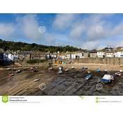 Mousehole Cornwall England UK Cornish Fishing Village Royalty Free