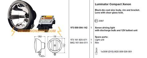 Lu Hella Projector hella luminator compact xenon driving light hid d2s
