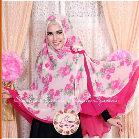 Khimar Syari Elsa khimar syahida pink magenta scarf