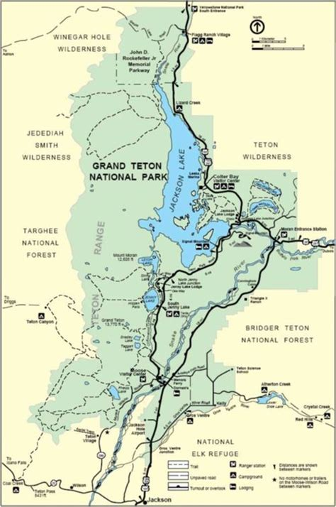 grand and map yellowstone national park map