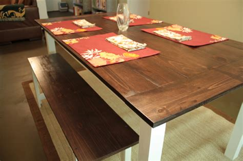rustic farmhouse dining table with bench ana white farmhouse dining table rustic bench diy