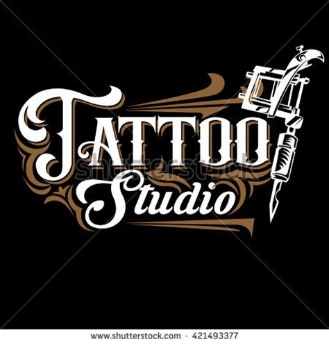 tattoo shop logo design shop stock vectors vector clip