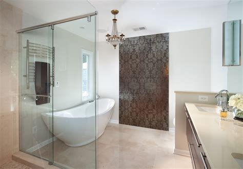 designer badezimmer wallpaper chic contemporary bathroom dc metro by