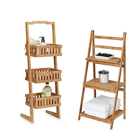 bed bath and beyond bamboo bathroom furniture creative bath bamboo shelf towers bedbathandbeyond