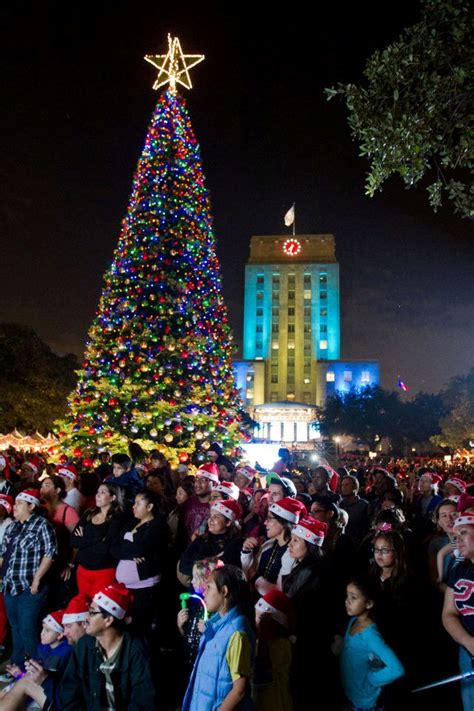 mayor s christmas tree lighting houston 365 houston