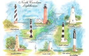 map carolina lighthouses
