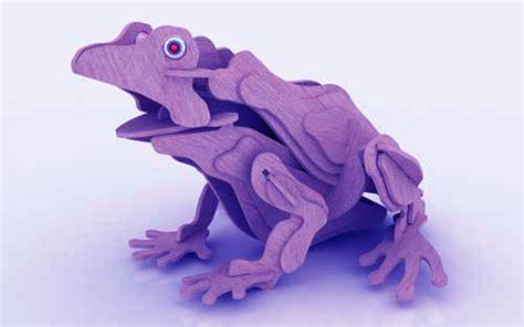 3d Puzzle Frog By Bimbozone the frog plasma reptiles plasma makecnc