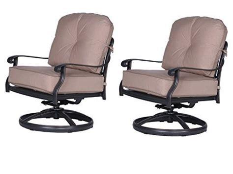 ipatio athens club swivel chairs  cushion quality