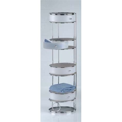 bathroom storage tower with drawers four drawer chrome floor standing storage tower get