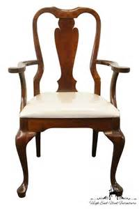 10 Seat Dining Room Set by Cresent Furniture Solid Cherry Queen Anne Arm Dining Chair