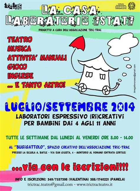 a scuola a casa laboratorio 1 la casa laboratorio estate 2014 trictrac teatro