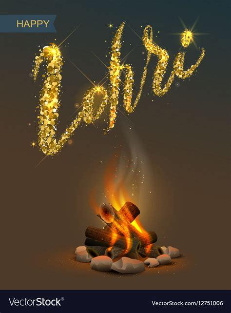 happy lohri images happy lohri punjabi festival bonfire on vector image