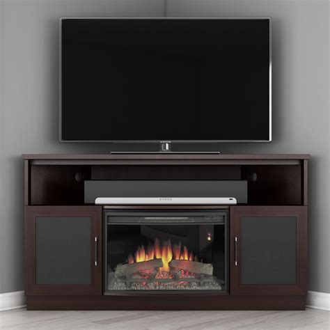 corner tv cabinet with electric fireplace fire place tv stand corner electric fireplace media center