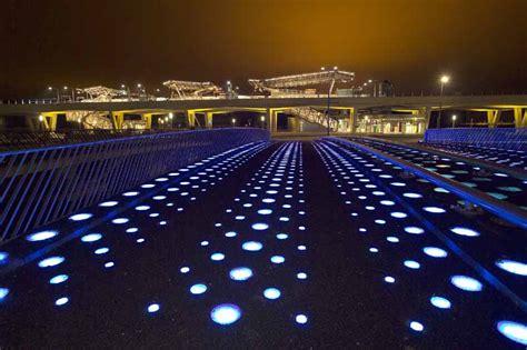Glass Light Nesselande Station Absence Of Light Bridge Rotterdam E