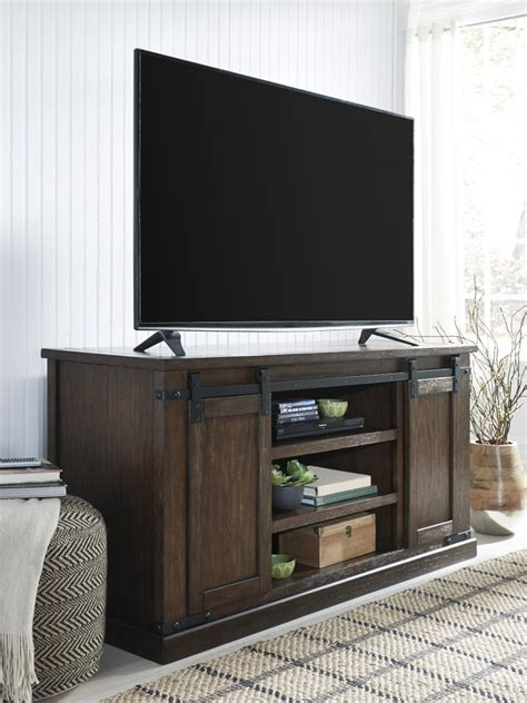 large tv console budmore rustic brown large tv stand w562 48 tv