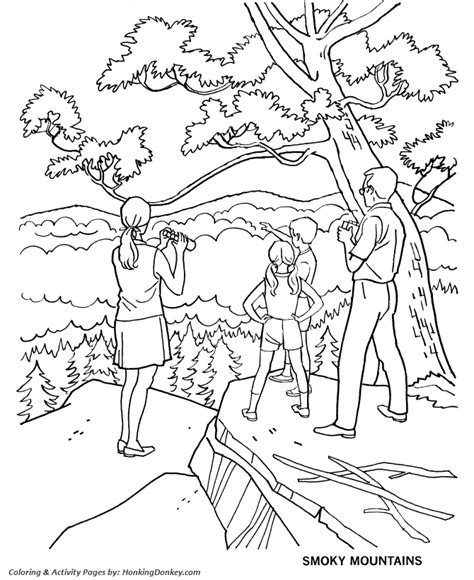 Smokey The Coloring Pages arbor day coloring pages smoky mountains national park