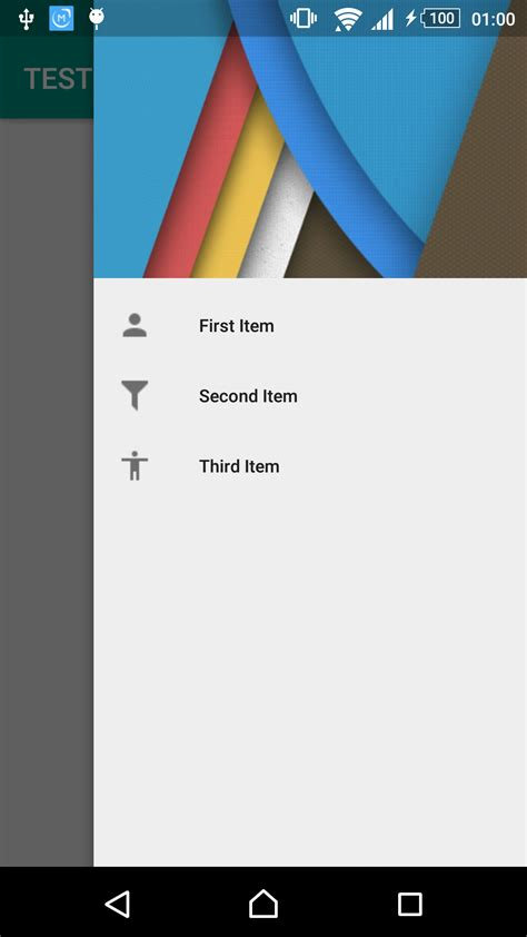 drawer layout right menu right to left navigation drawer menu using android design