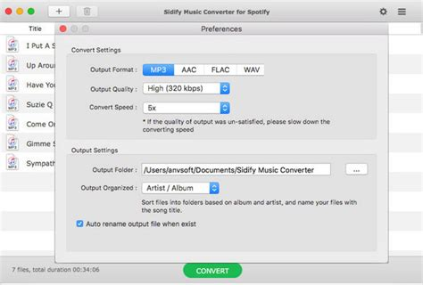 format audio spotify tutorial of spotify audio converter for mac