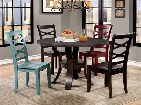 espresso dining room set giselle espresso round dining room set cm3518rt