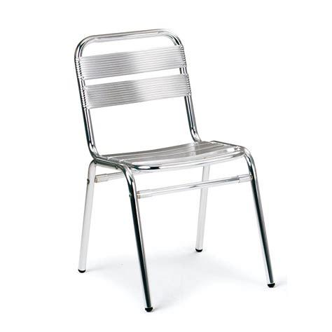 chaise aluminium table de lit