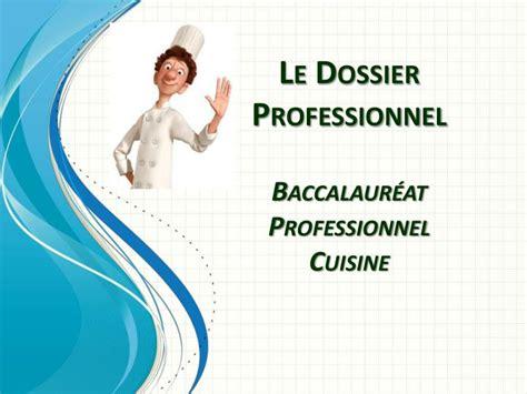 ppt le dossier professionnel baccalaur 233 at professionnel