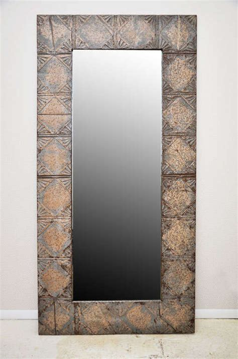 floor to ceiling mirror panels mirror made from vintage ceiling tiles at 1stdibs