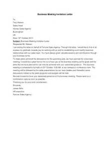 Business Letter Sle Meeting Request Sle Invitation Letter For A Business Meeting Choice