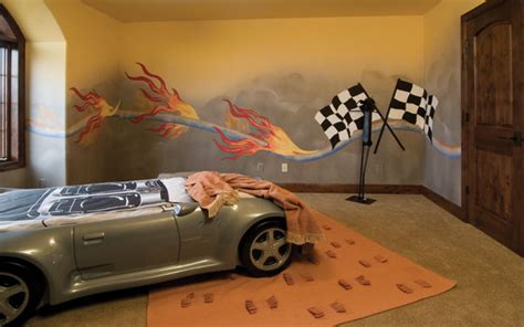 racing car themed bedroom bedroom boys car big boy ideas room racing try cars race