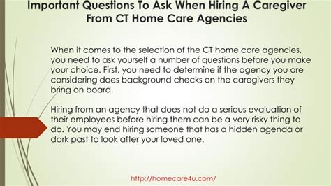 ppt important questions to ask when hiring a caregiver