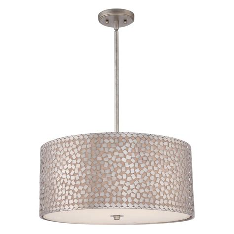 large drum shade ceiling pendant light off white shade