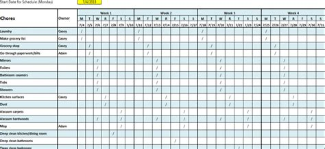 monthly work schedule template formal a helendearest