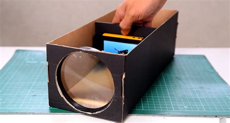 diy projector 16 outside the box ways to use shoeboxes
