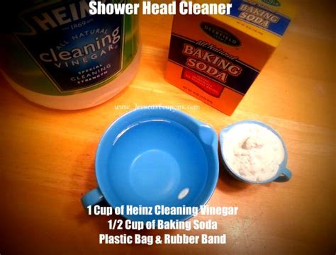 vinegar baking soda bathroom cleaner my rockstar shower head cleaner other natural cleaning