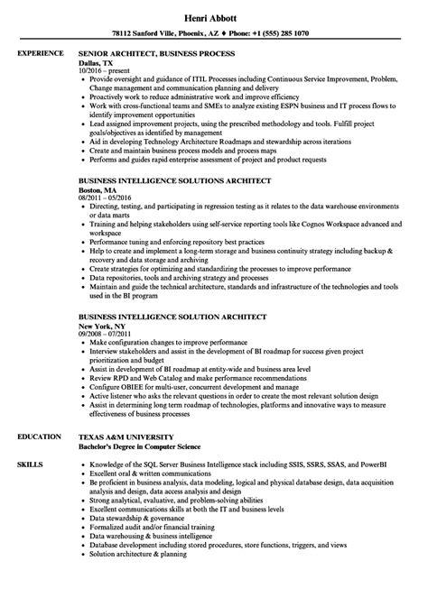 business architect resume architect business resume sles velvet