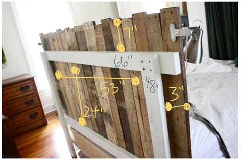 making a headboard out of pallets pallet head board home and heart diy