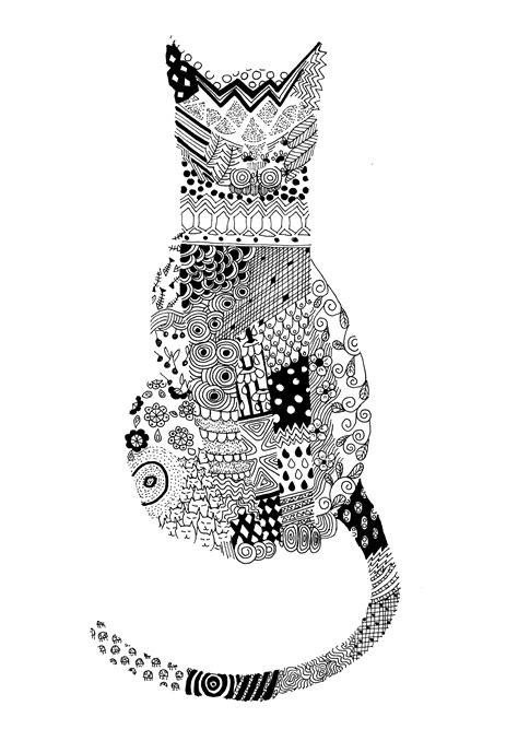 pattern cat drawing cats my big inspiration minasparklinadesign