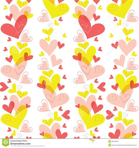 z pattern heart sounds vector seamless pattern of heart royalty free stock