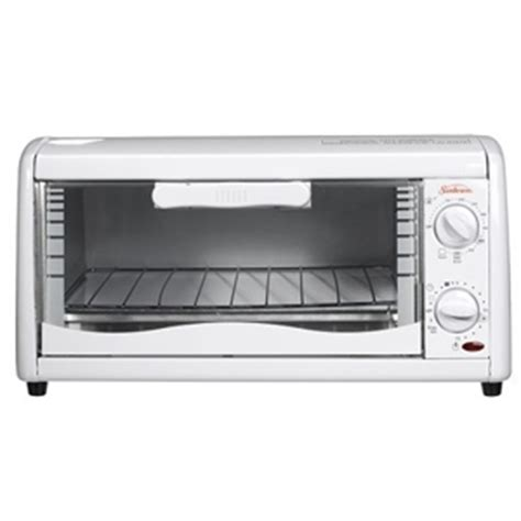 Toaster Oven Temperature sunbeam 6198 4 slice toaster oven temperature 15 minute timer stay on option white