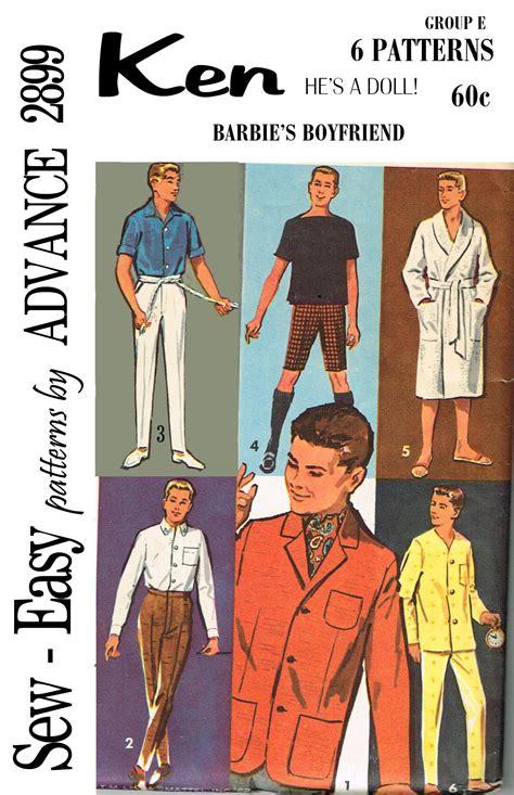 pattern for ken clothes title advance 2899 ken
