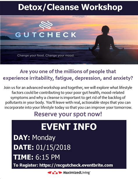 Detox Workshop by Gut Check Detox And Cleanse Workshop Raleigh Specific