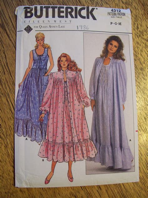 sewing pattern victorian nightgown sewing pattern vintage 1960s sexy neo victorian nightgown