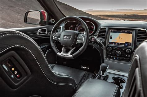 jeep cherokee 2018 interior 2018 jeep grand cherokee trackhawk first test review
