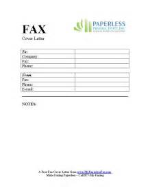 free sample color fax cover sheets my paperless fax