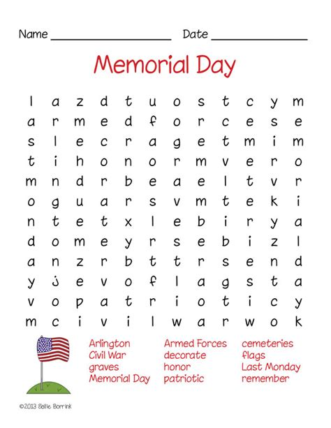 day word search free memorial day word search puzzle sallieborrink