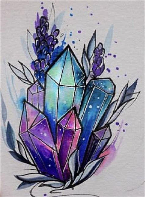 crystal tattoos 25 best ideas about on