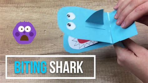 easy shark crafts for biting shark paper craft for easy and