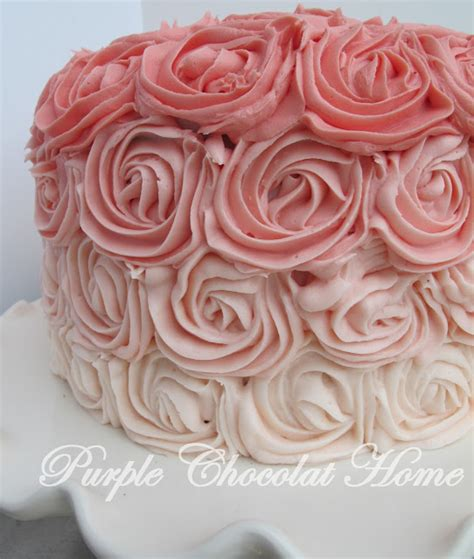 red roses pink ombre cake ombre rose cake purple chocolat home