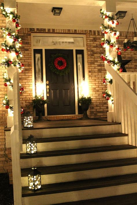 christmas decorating outdoor columns 50 best porch decoration ideas for 2018