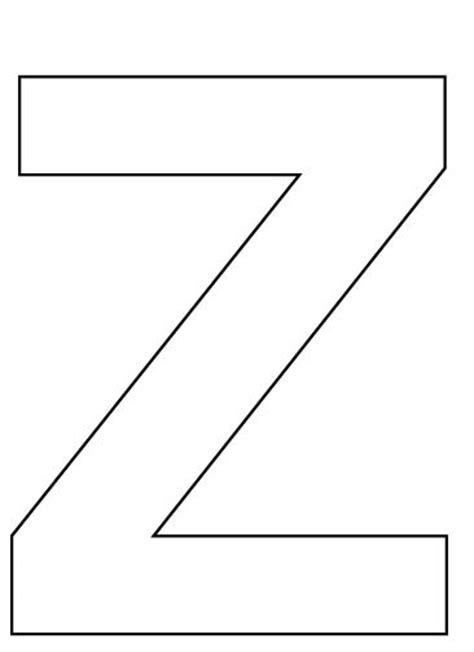 letter z template letter z