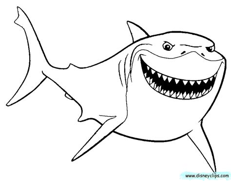 Nemo Shark Coloring Pages | nemo shark coloring pages